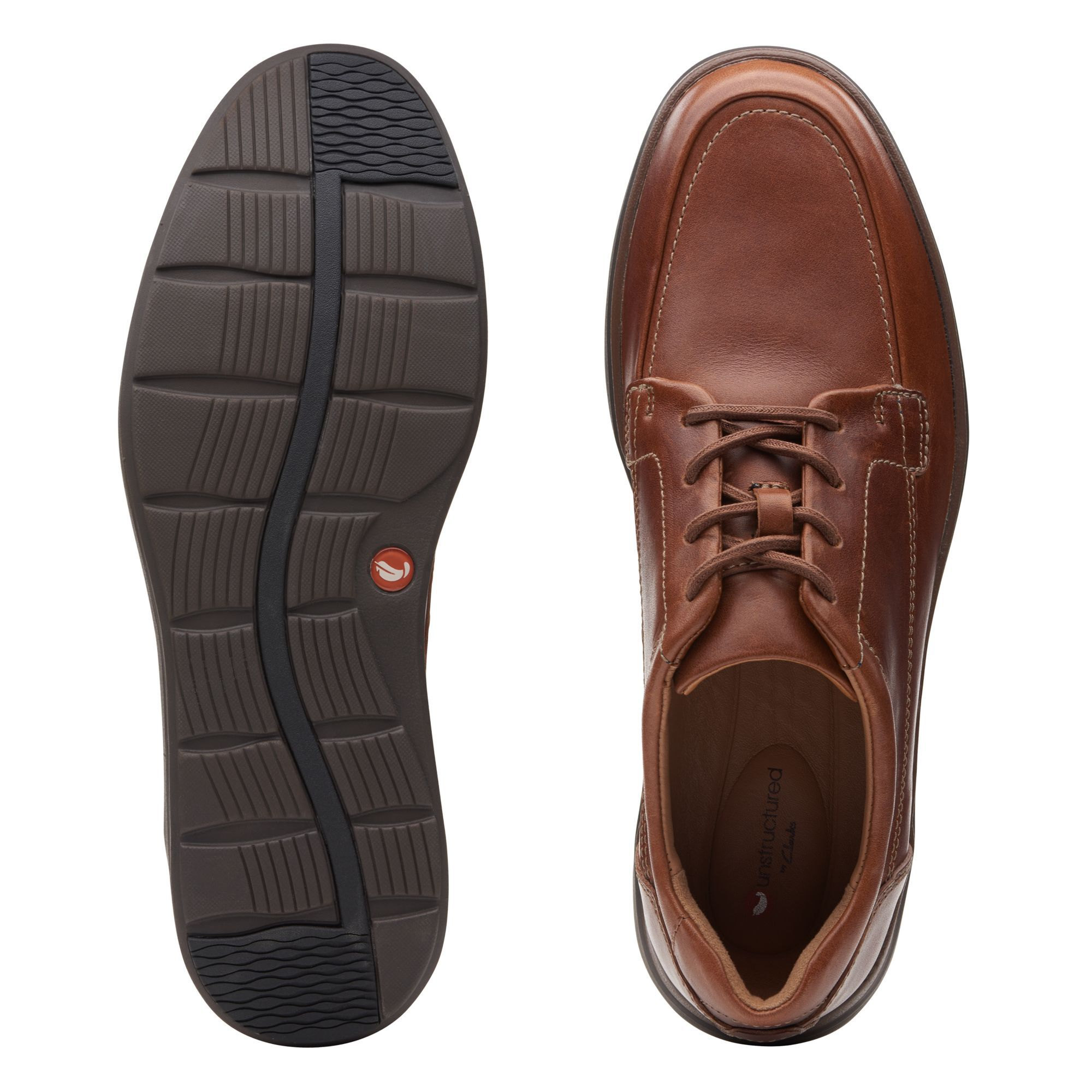 Men's Dark Tan Leather Shoes - Un Abode