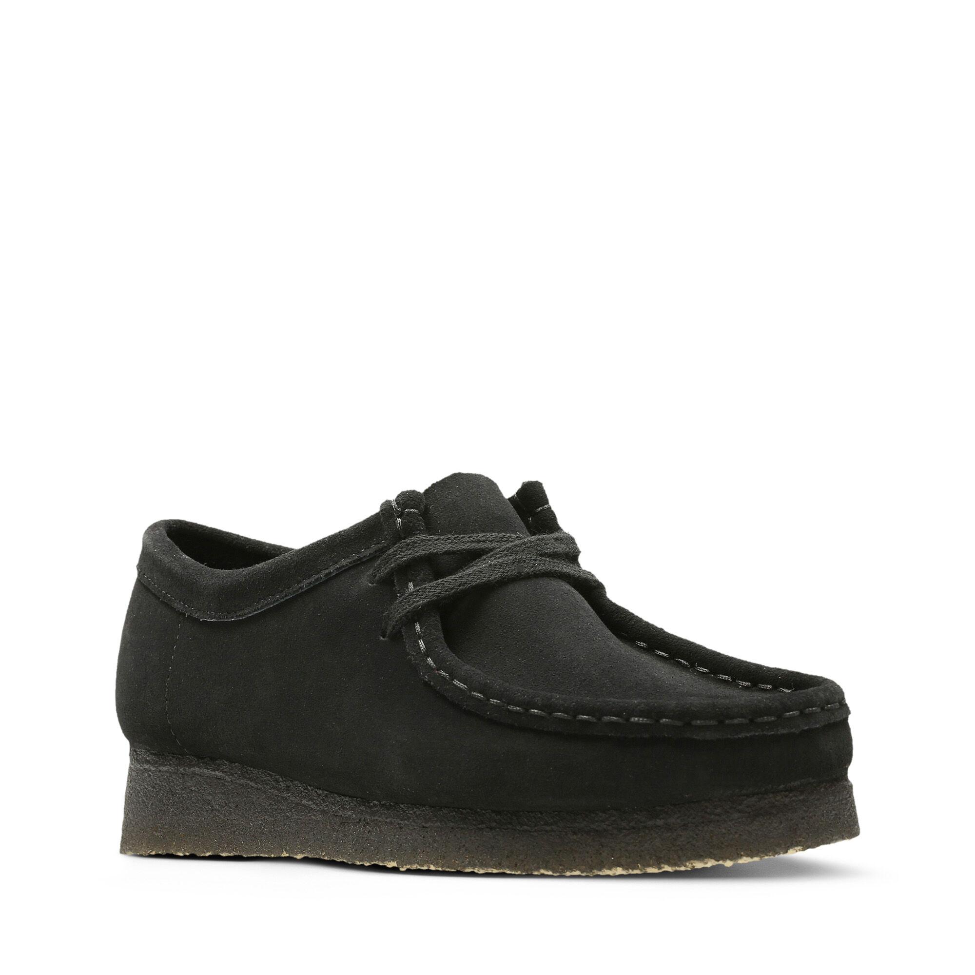 Women's Black Suede Shoes Wallabee | Clarks