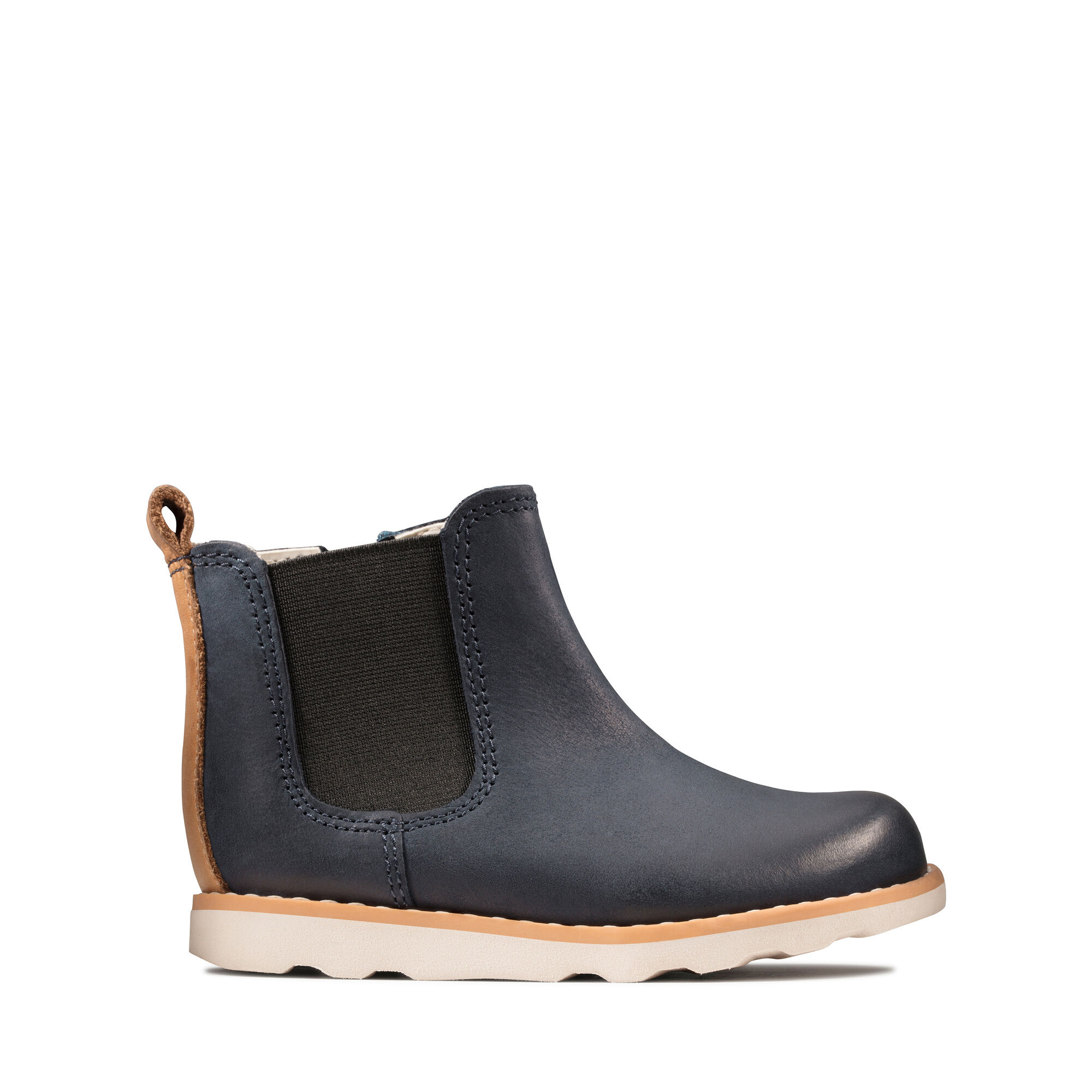 Boys' Navy Leather Boots - Crown Halo T