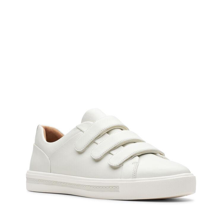 Amplificador salchicha Perezoso  Women's White Leather Sneakers - Un Maui Strap | Clarks