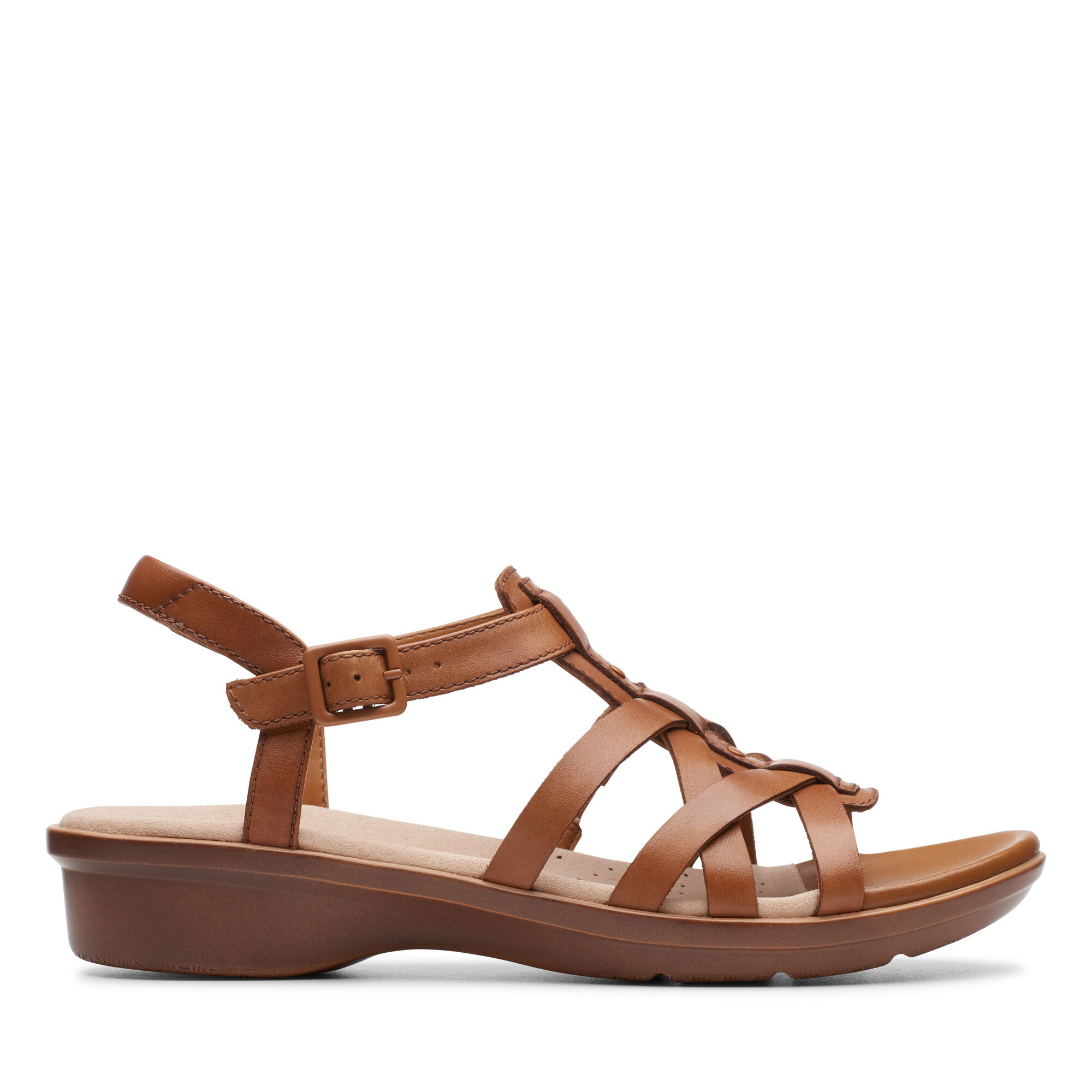D Or E Fitting Ladies Clarks /'Loomis Katey/' Strappy Leather Sandals
