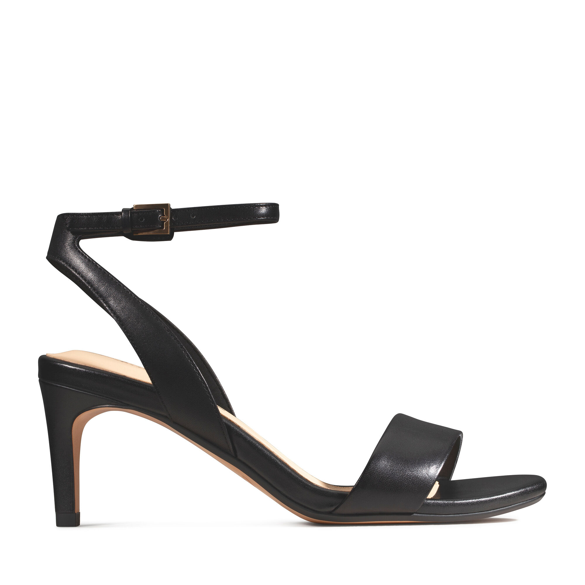 Clarks Womens Amali Jewel Black Leather Sandals in Various Sizes