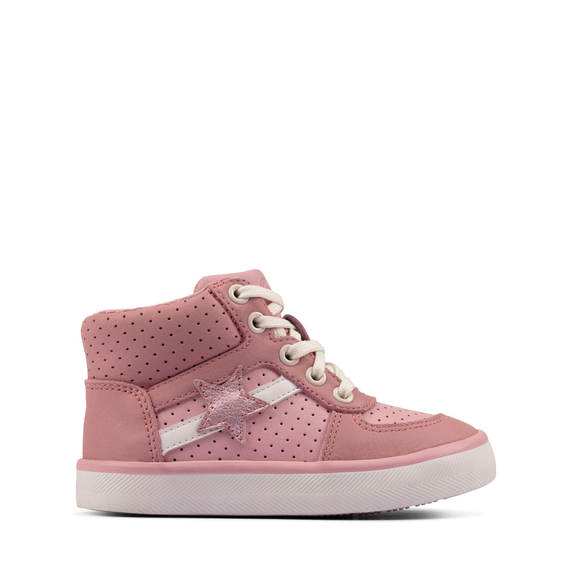 Pink Leather Trainers - City Flake T