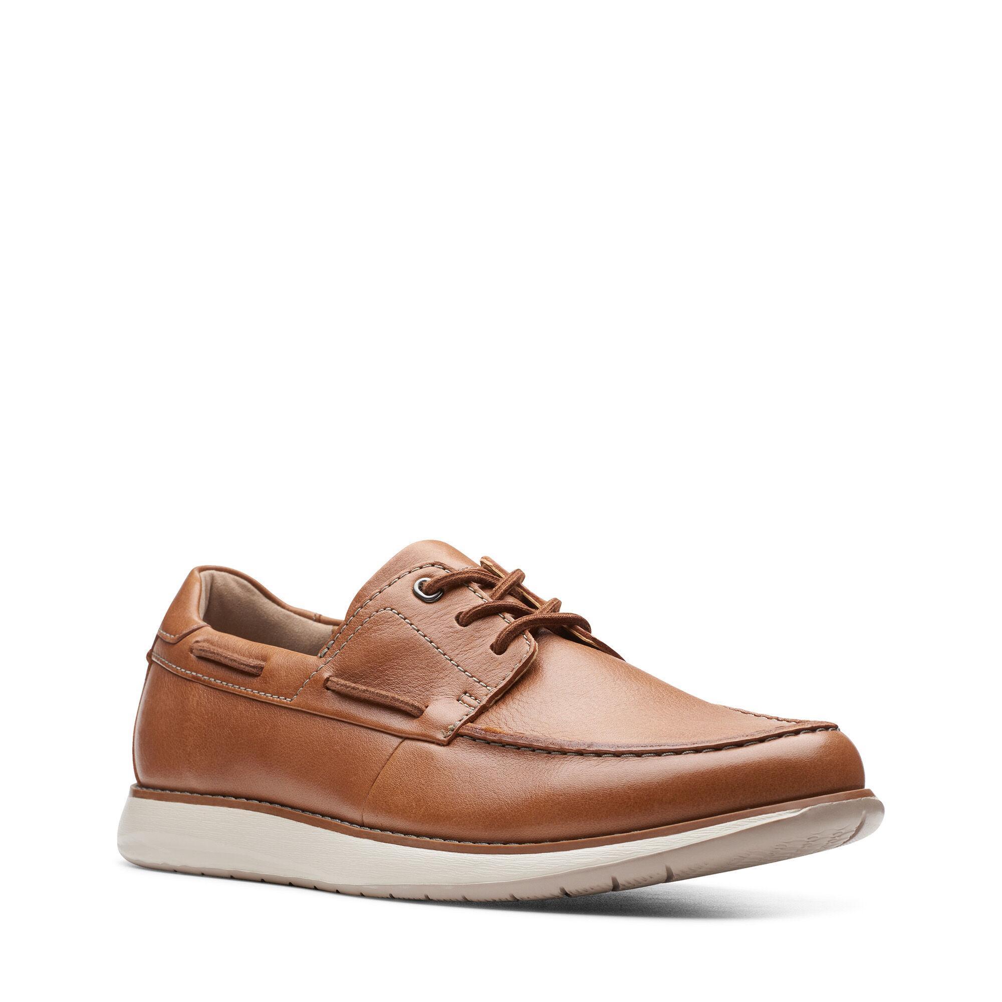 Men's Tan Leather Loafers Un Pilot Lace   Clarks