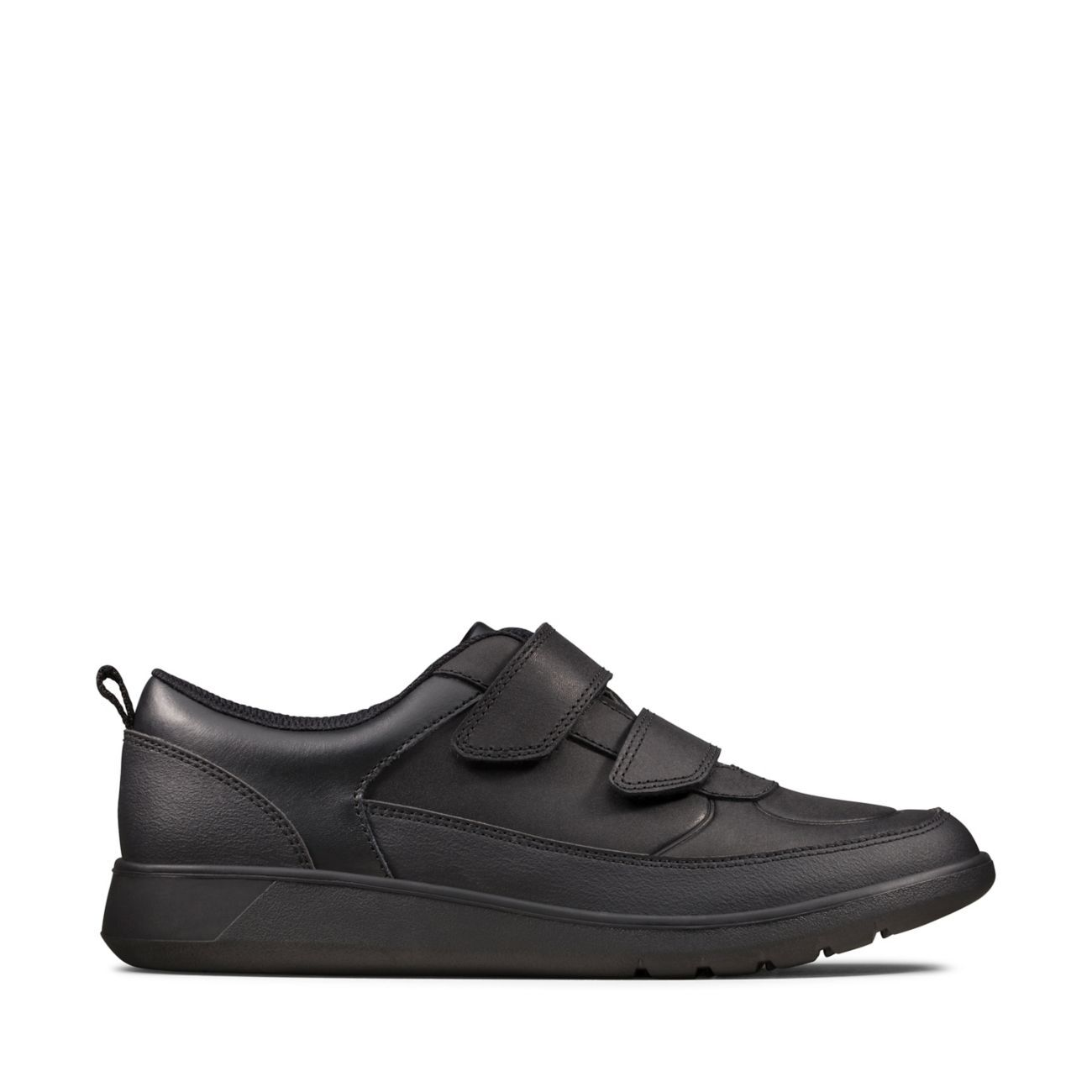 Black Leather Trainers - Scape Flare Y