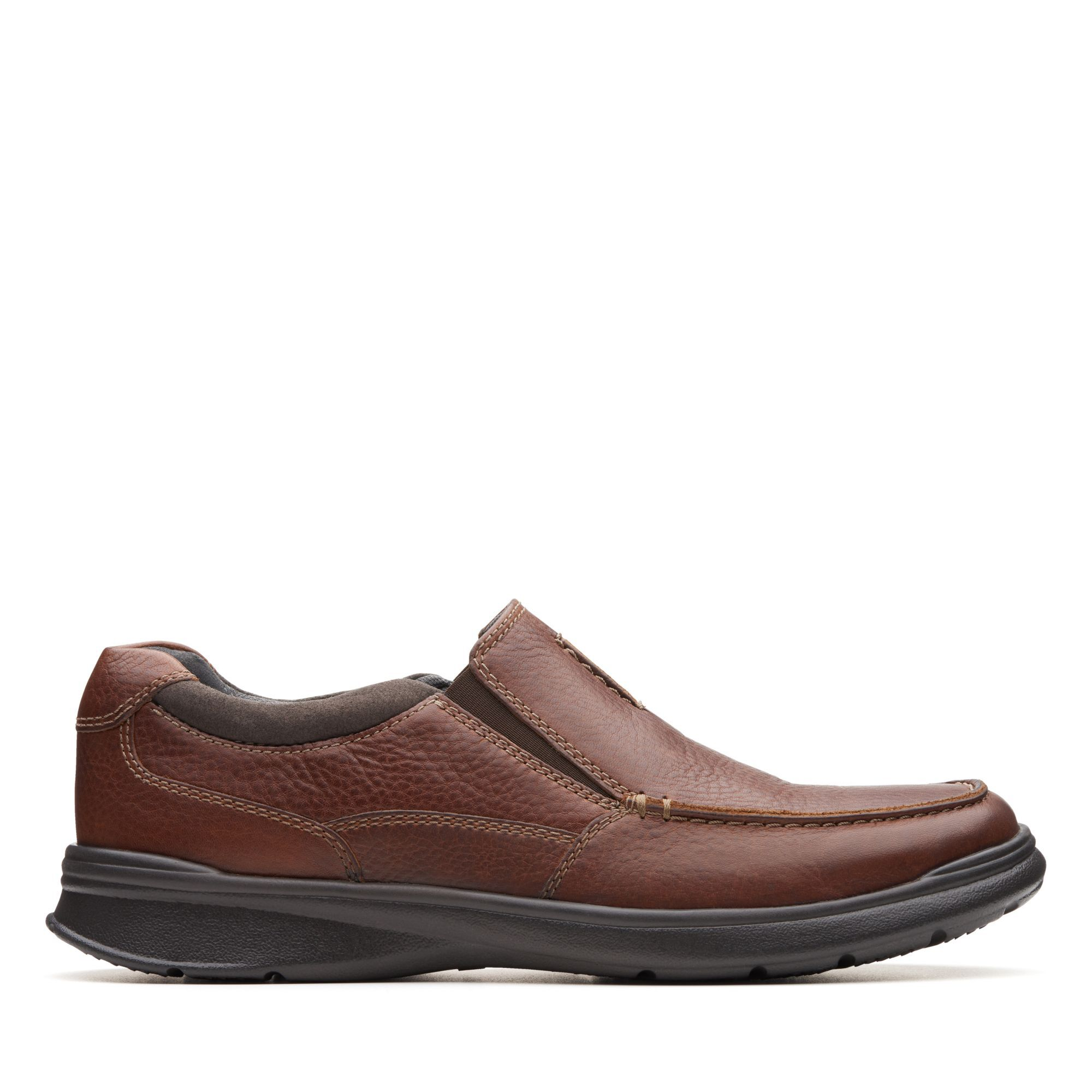 Tobacco Leather Loafers - Cotrell Free