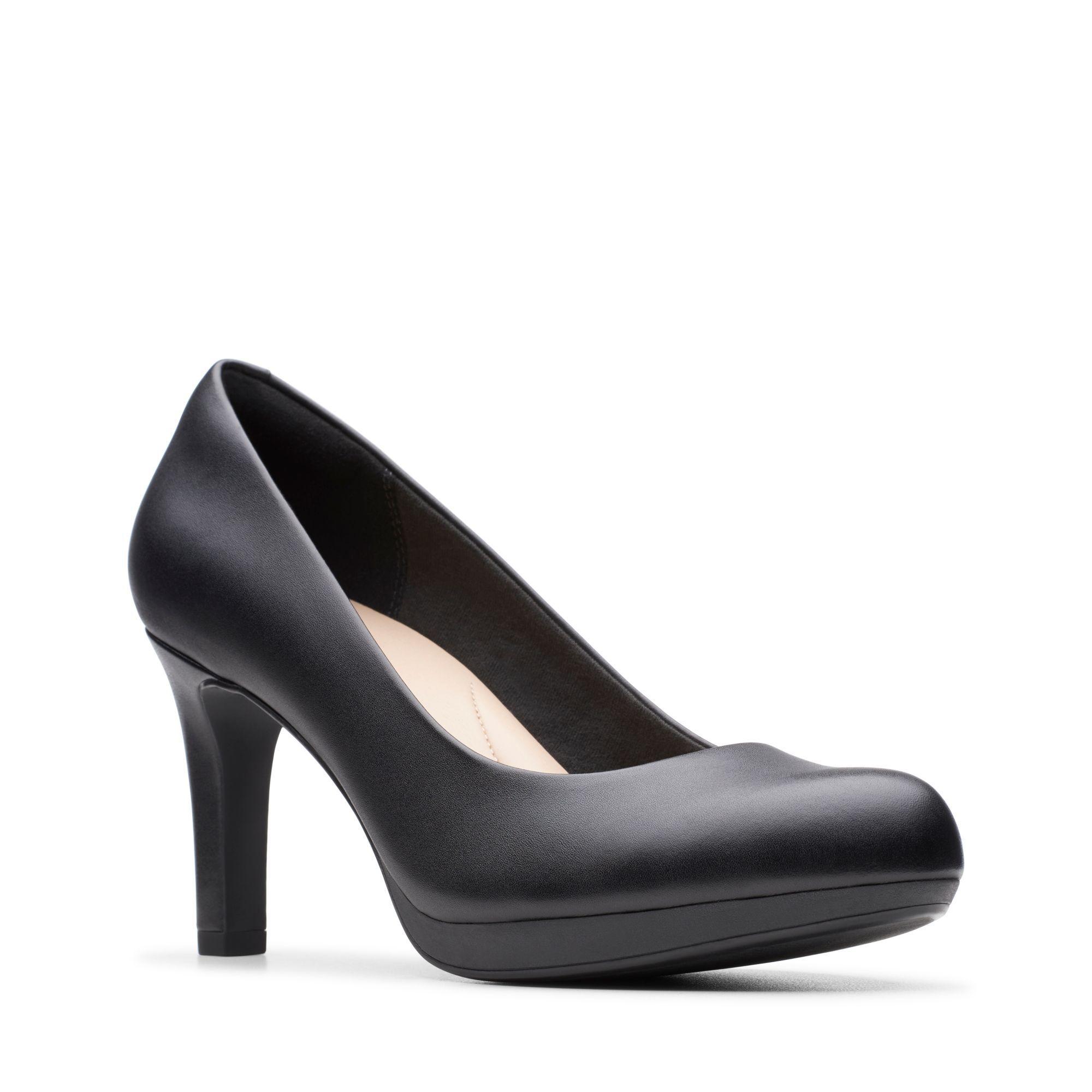 Black Leather Pumps - Adriel Viola | Clarks