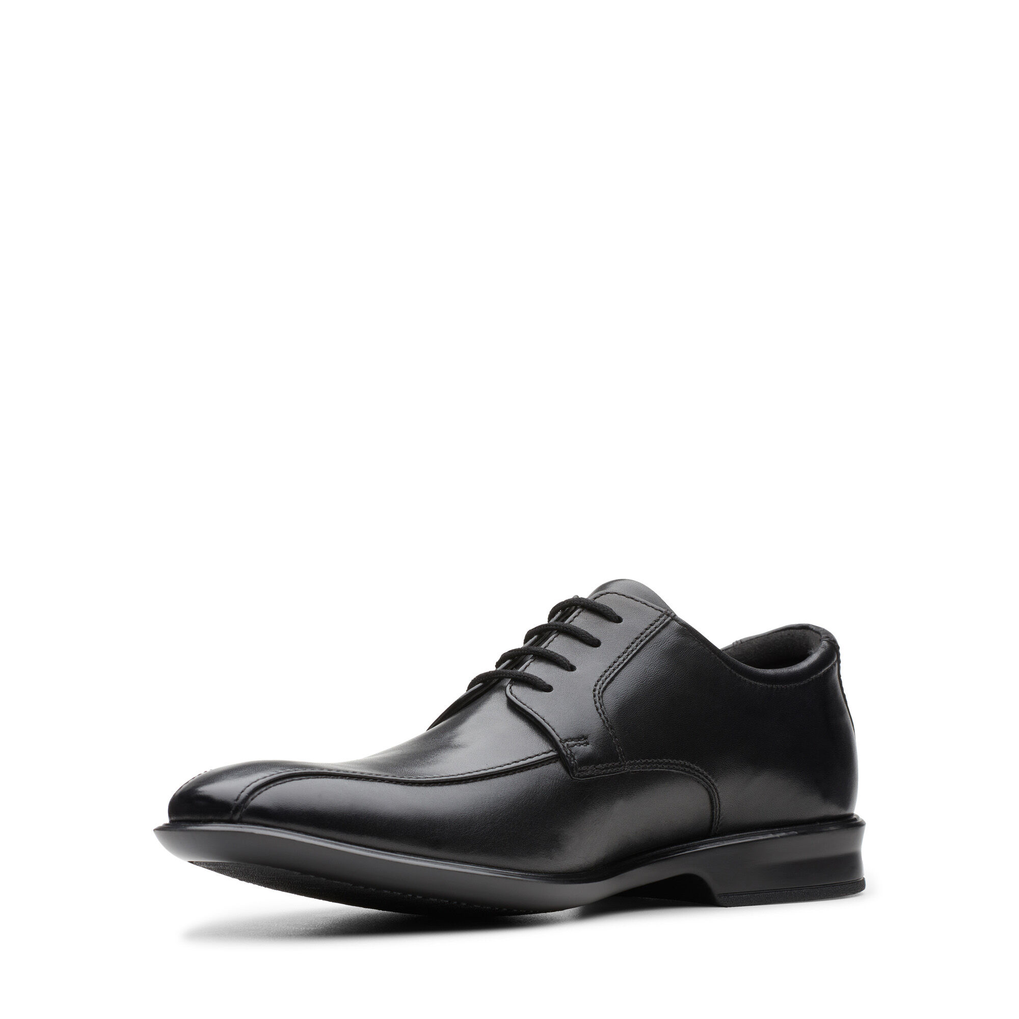 G Fit Mens Clarks /'Bensley Run/' Leather Smart Lace Up Shoes