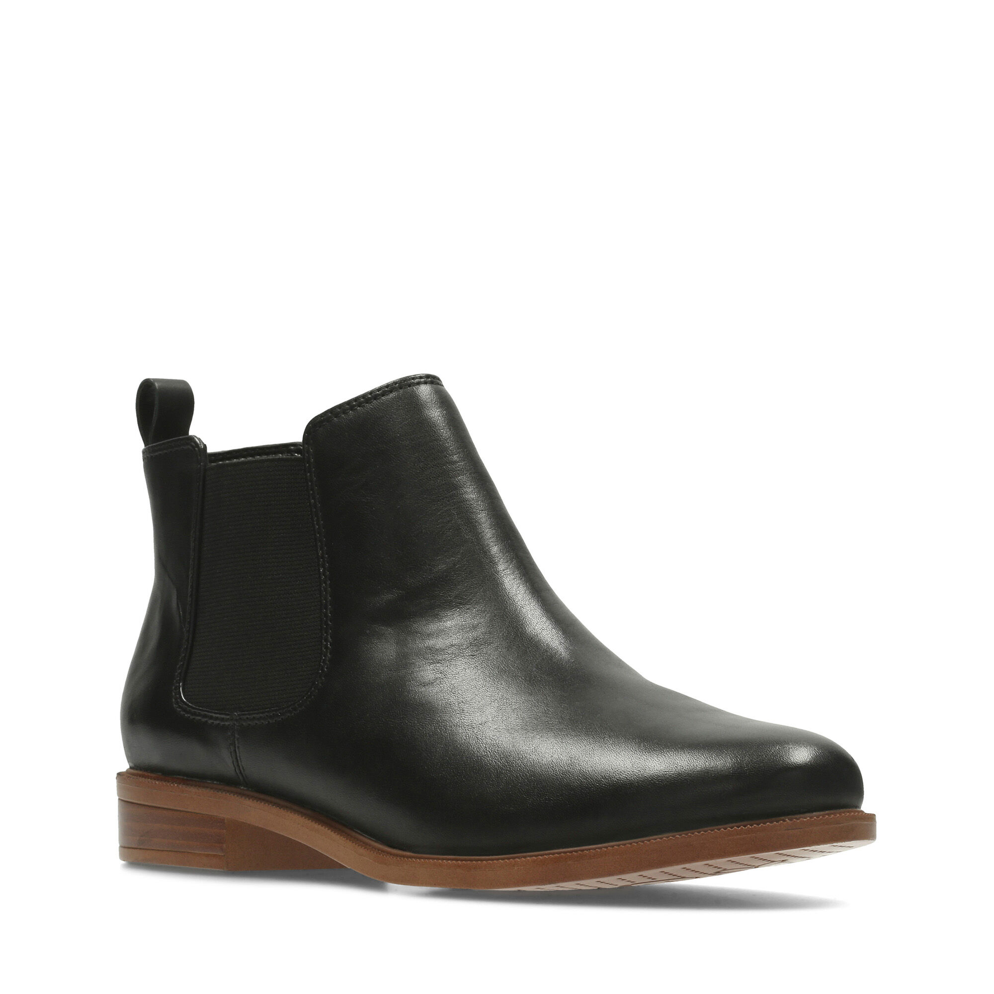 Women's Black Leather Chelsea Boots Taylor Shine | Clarks
