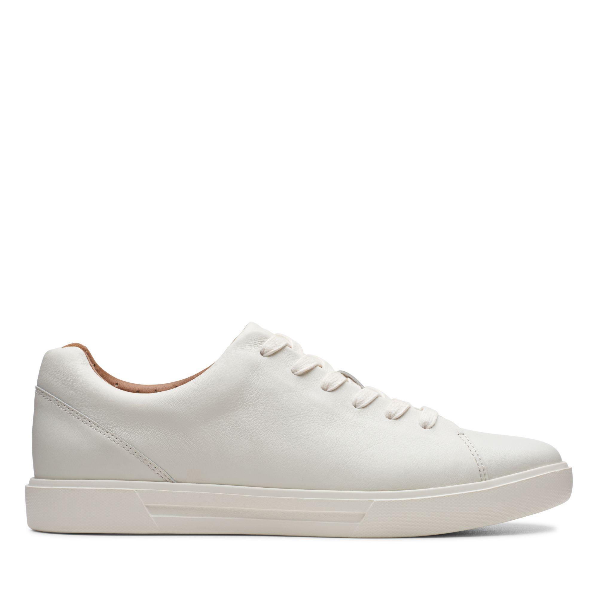 Men's White Leather Sneakers - Un Costa