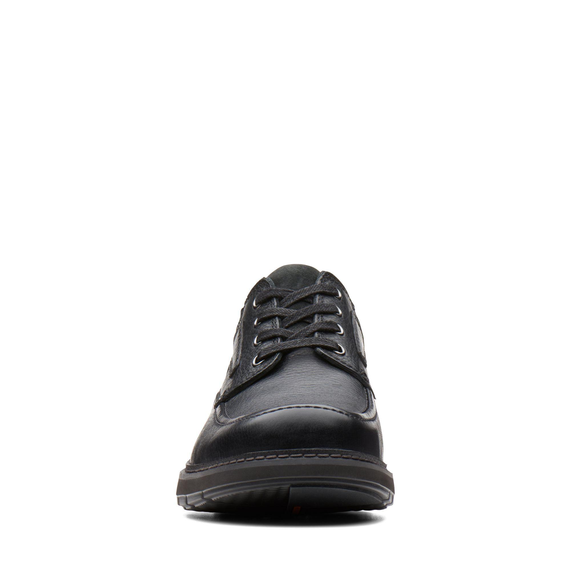 Men's Black Leather Shoes - Un Ramble