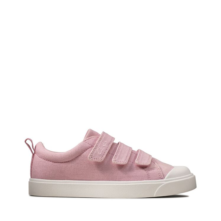 Clarks City Vibe Girls Canvas Shoes
