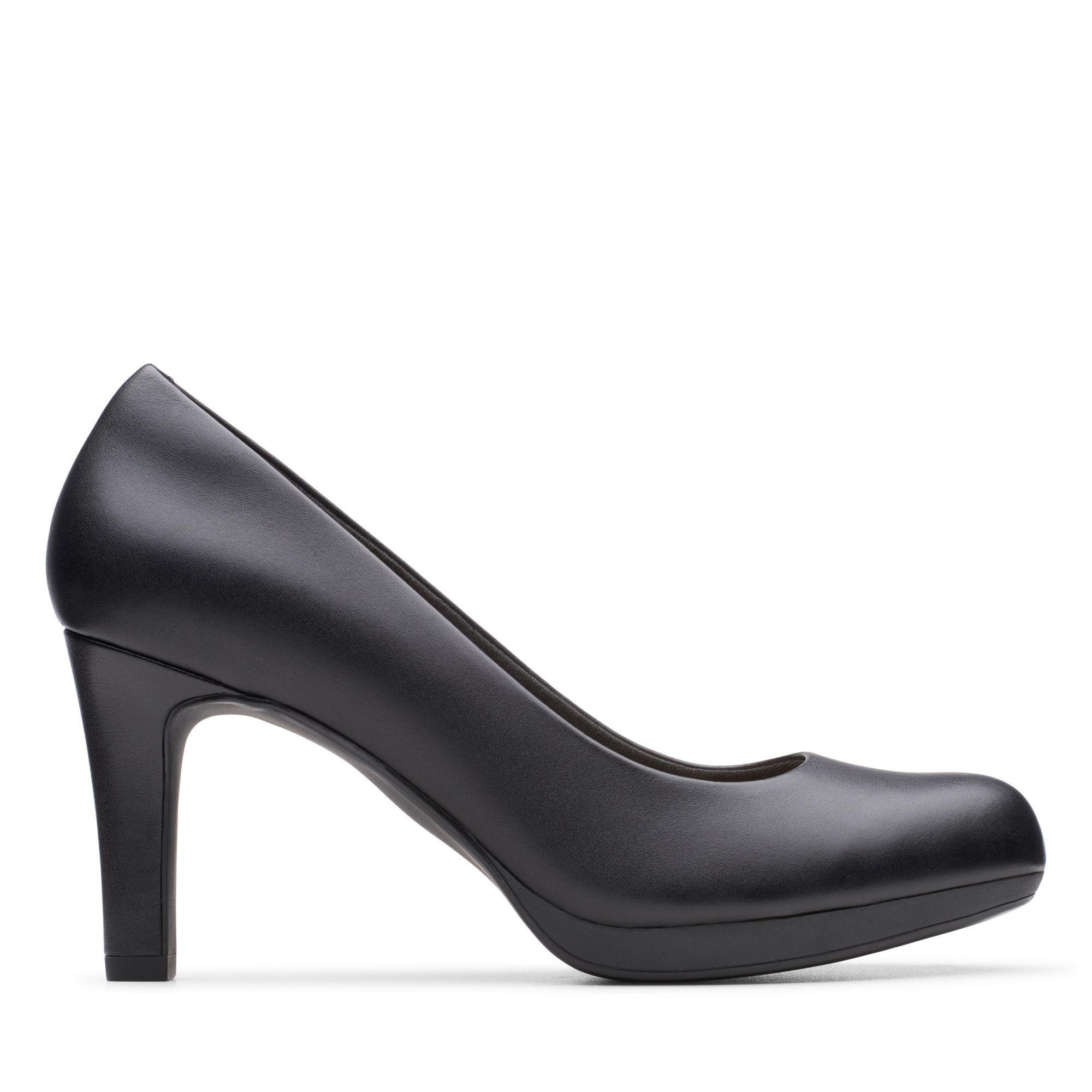 Black Leather Pumps - Adriel Viola   Clarks