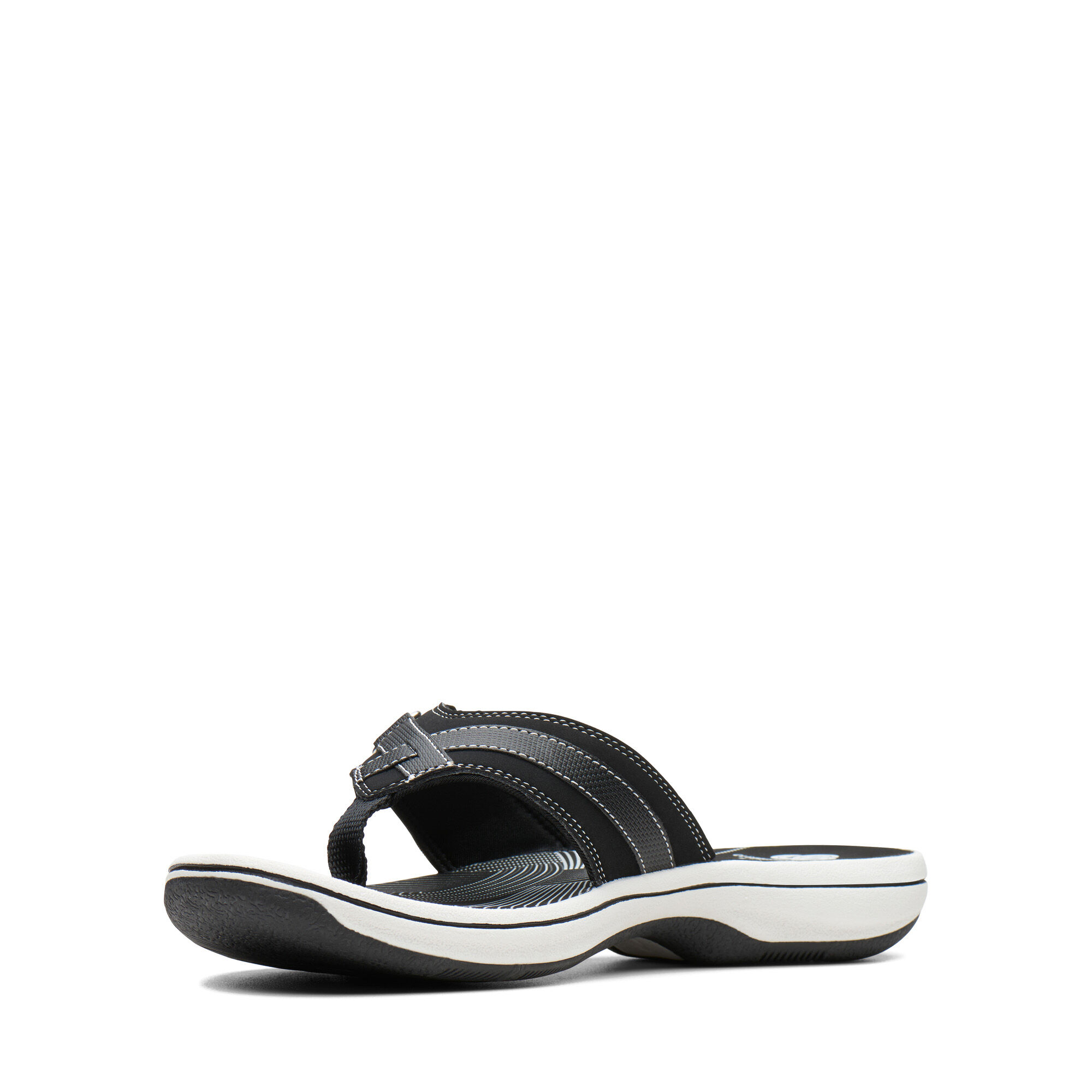 Women's Black Synthetic Sandals