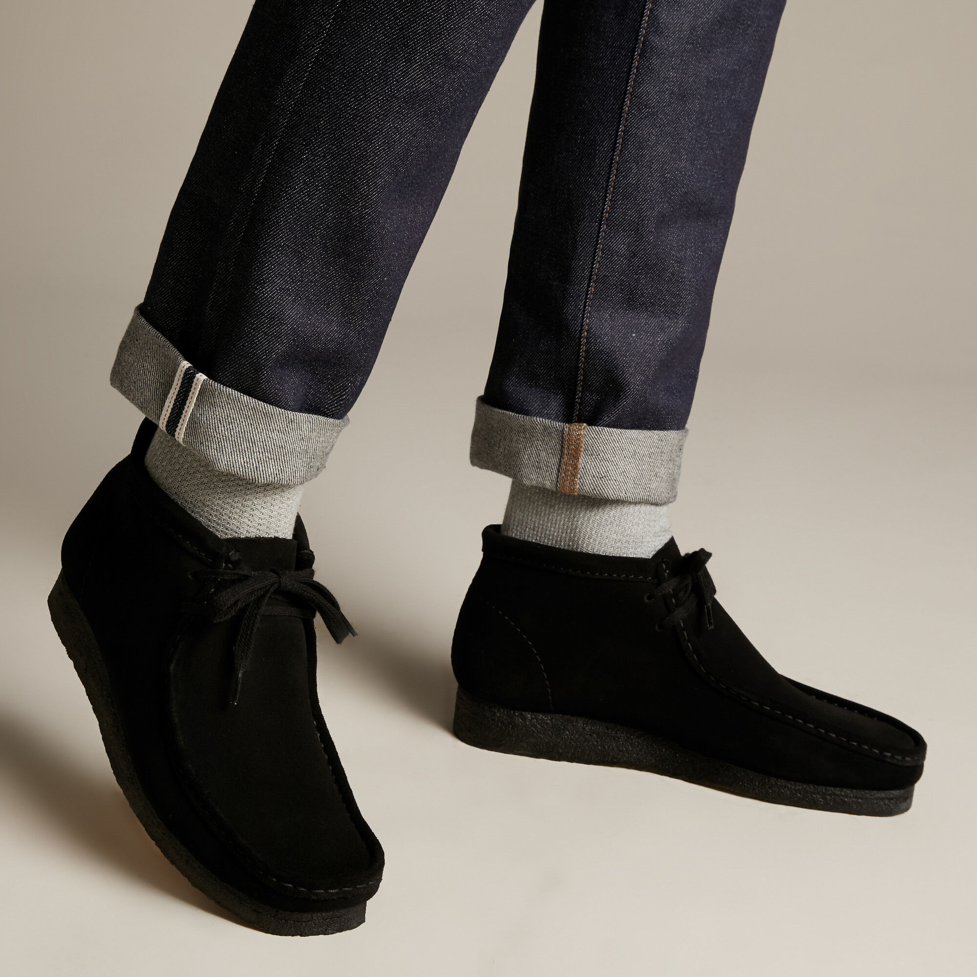 Men's Black Suede Ankle Boots