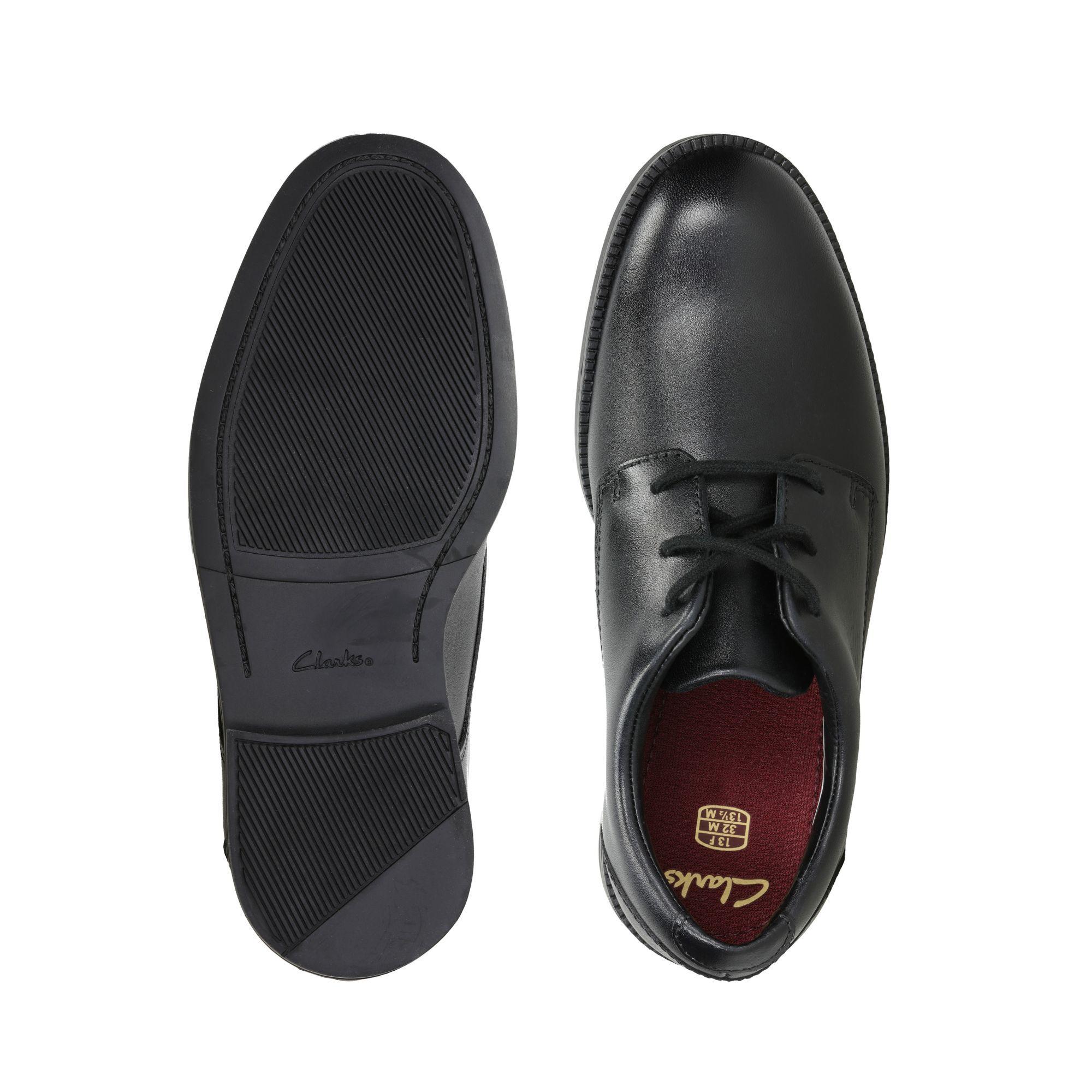 Black Leather Shoes - Rufus Edge   Clarks