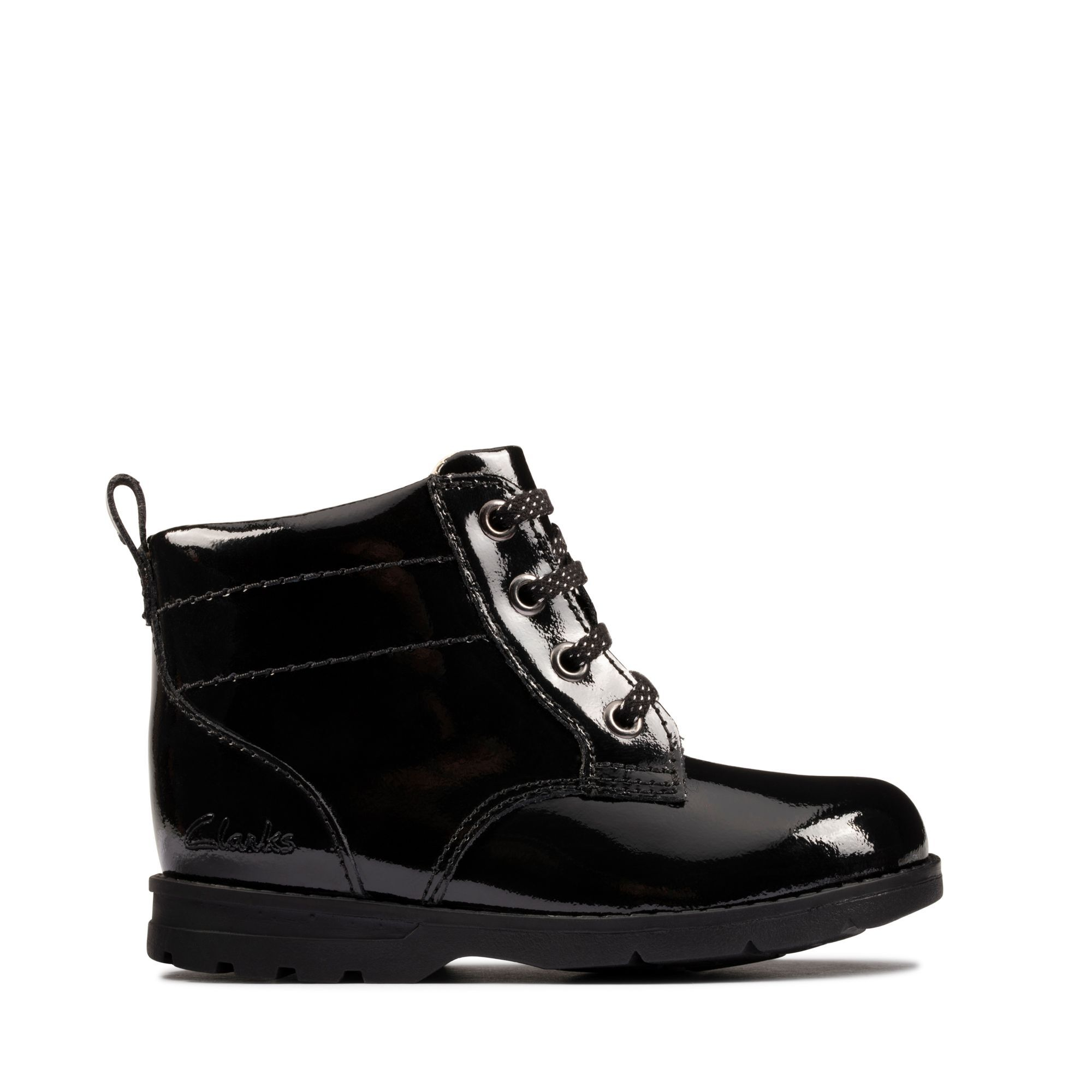 Black Patent Boots - Astrol Lace T