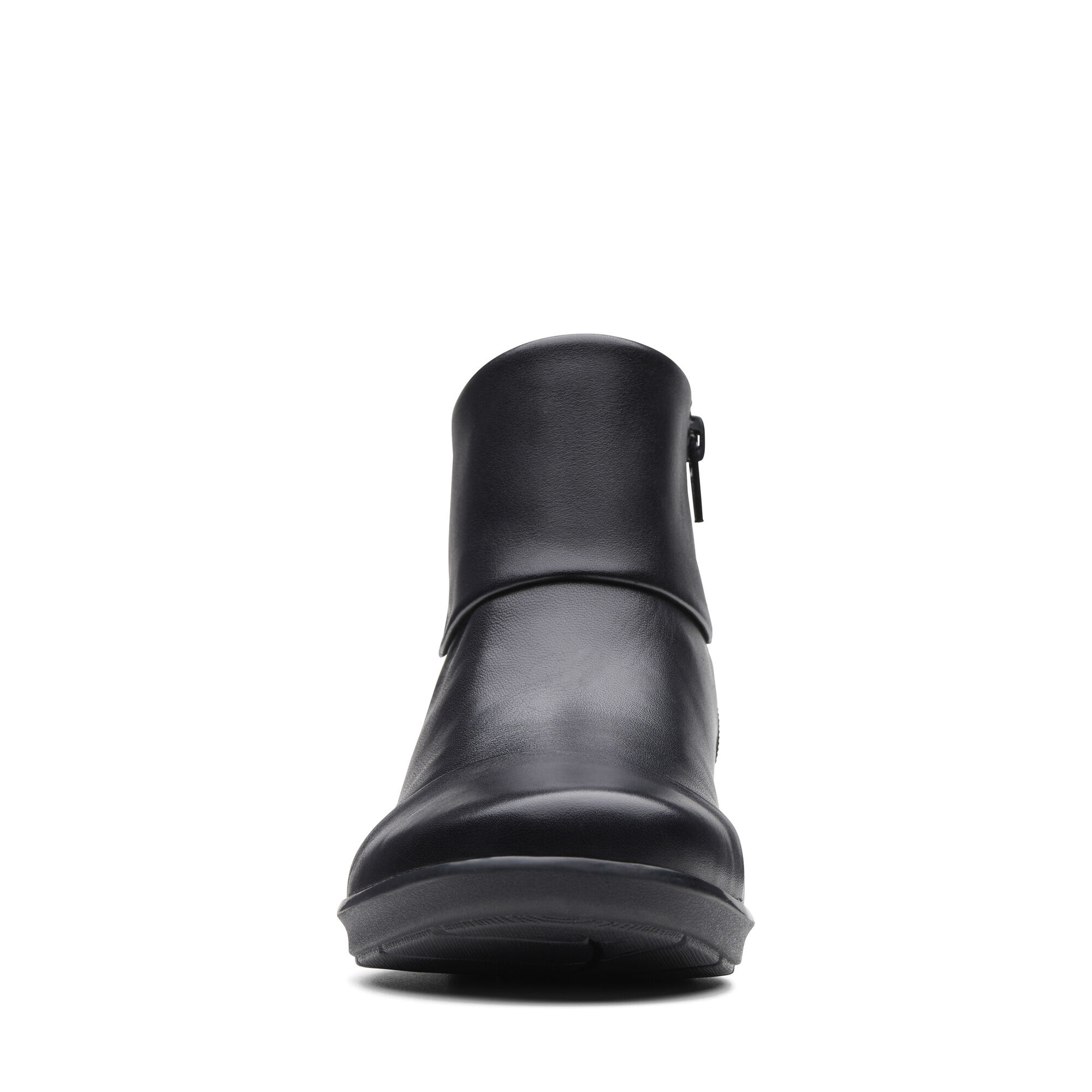 Hope Track Black Leather Womens Boots Clarks Shoes