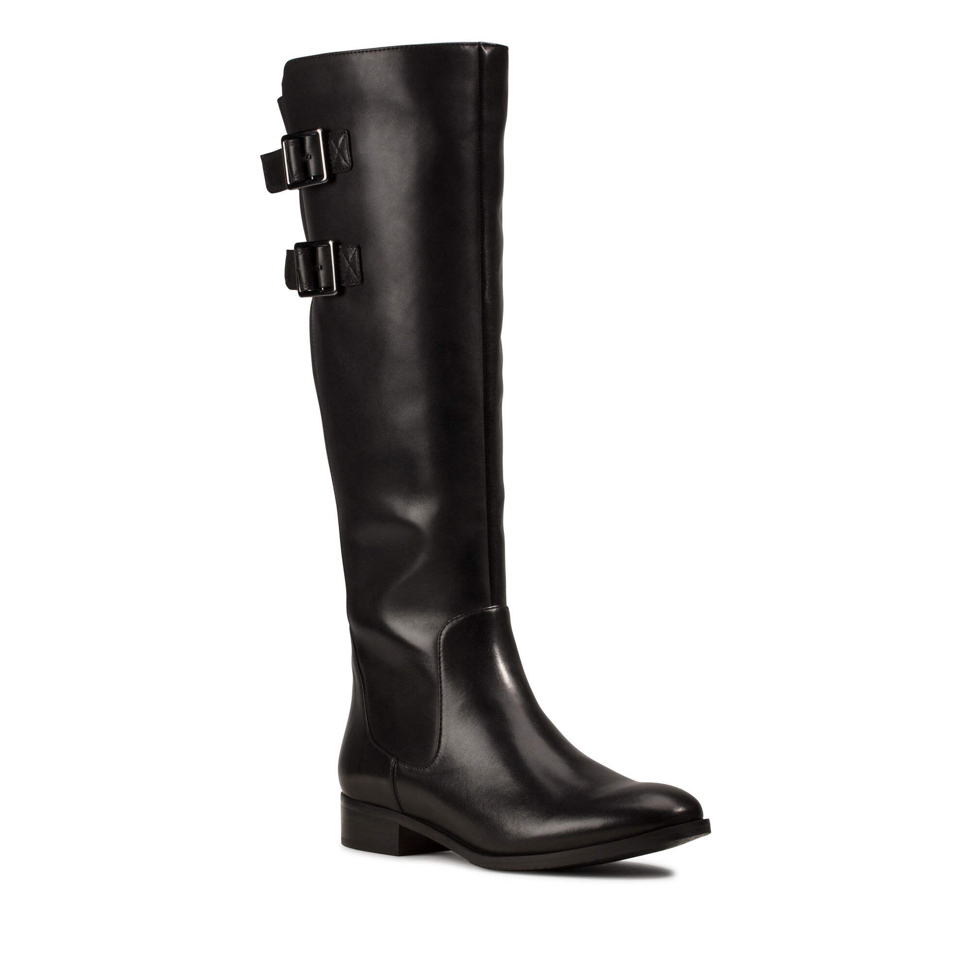 Netley Ride Black Leather | Clarks