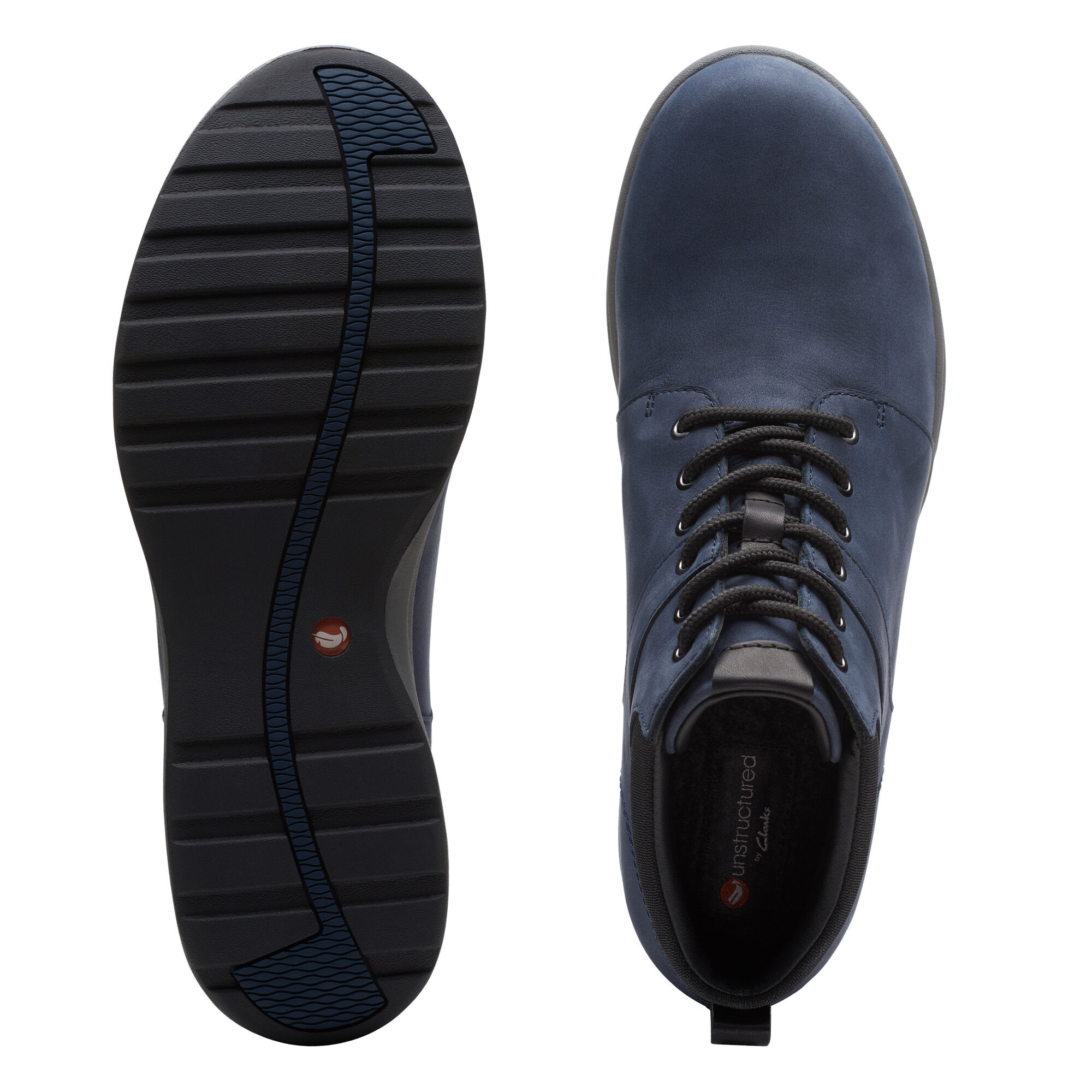 Women's Navy Nubuck Walking Boots - Un