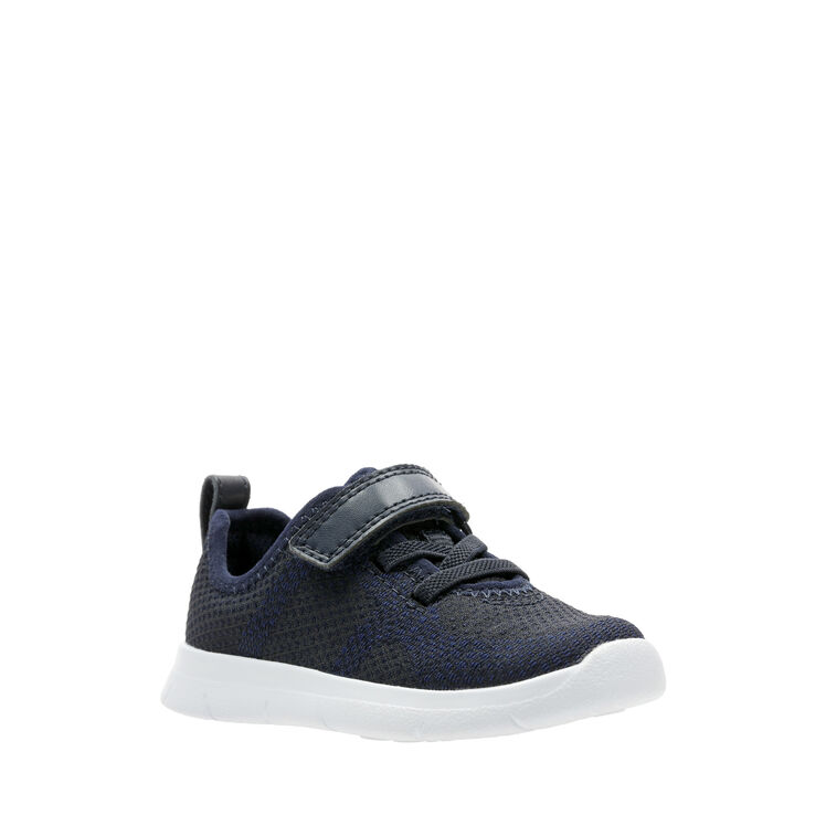 Childrens Boys Girls Clarks Casual Trainers Ath Flux T