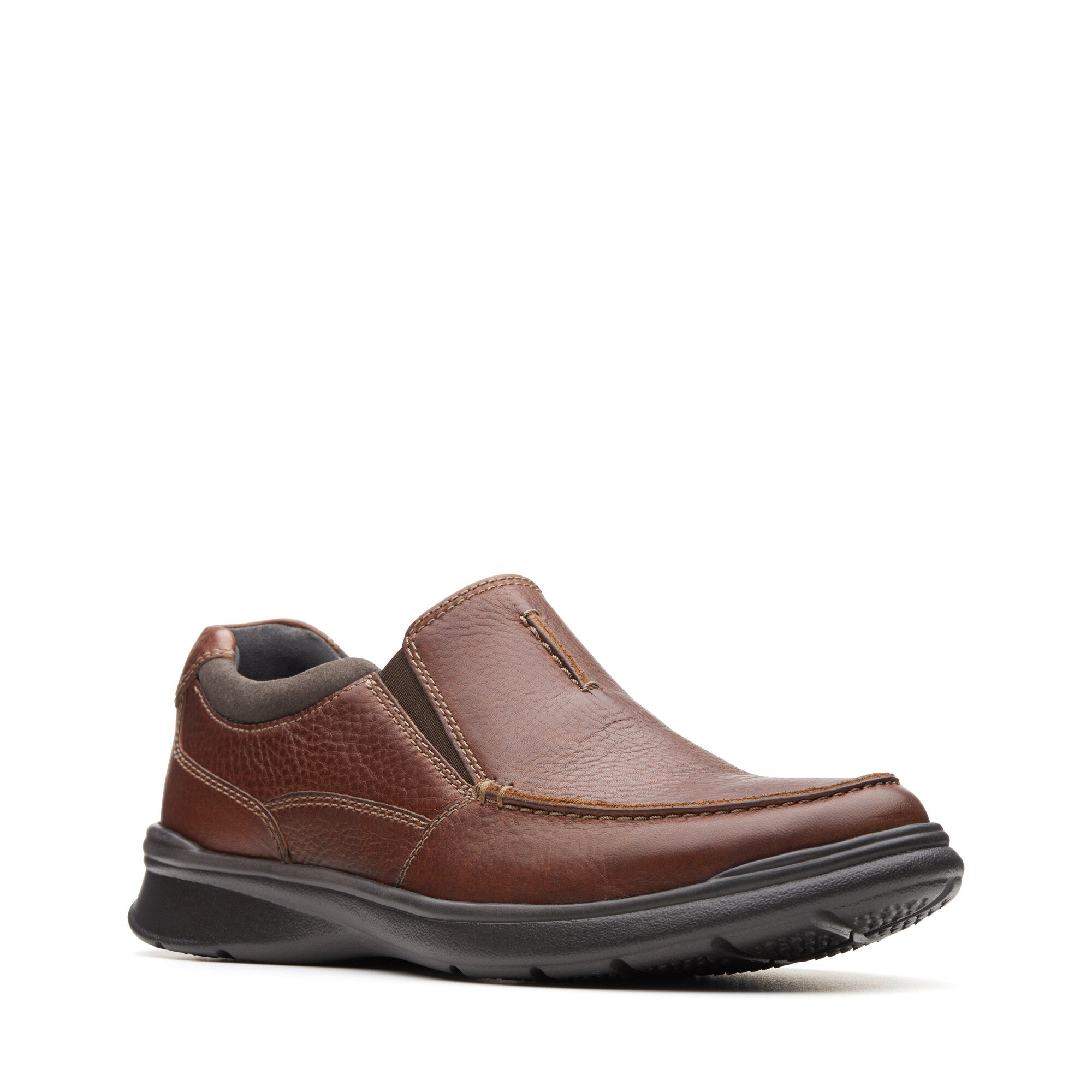 CLARKS Cotrell Free mens Tobacco  Leather Slip On Shoe