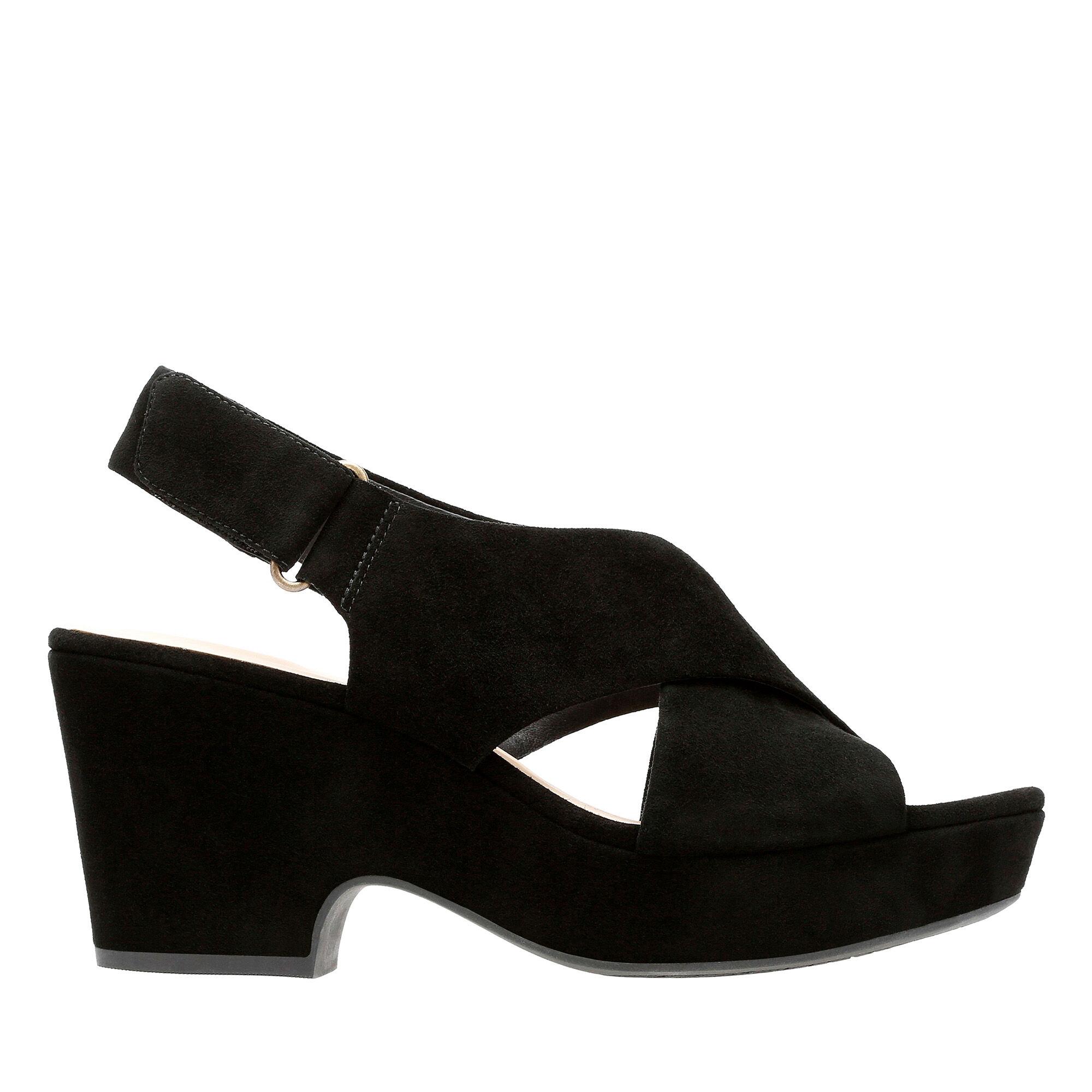 Women's Black Suede Sandals Maritsa Lara | Clarks
