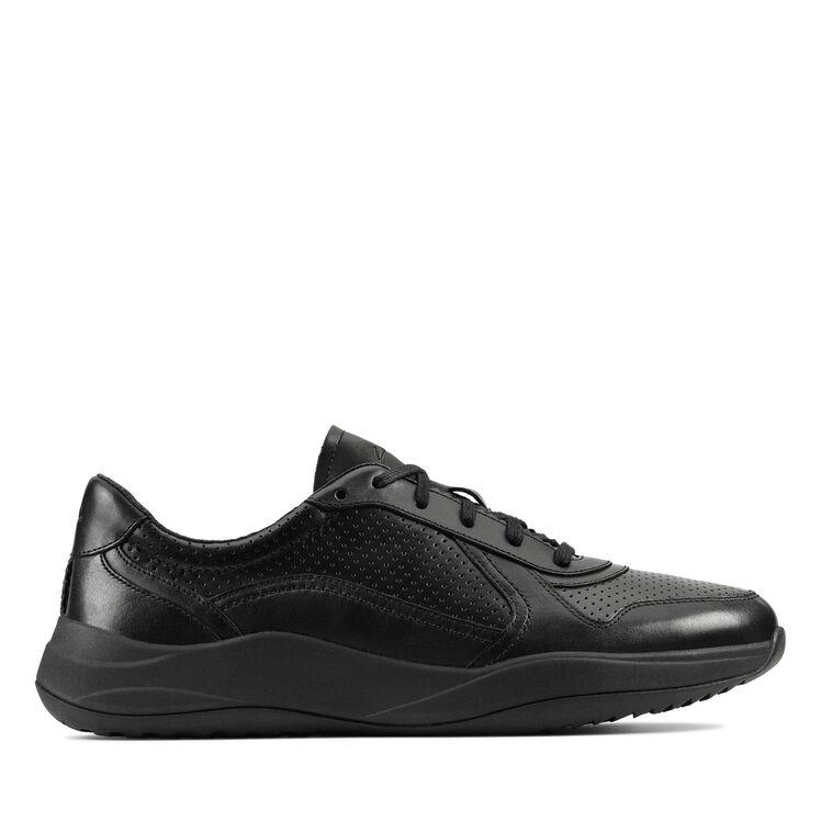 cortar a tajos Separar pegamento  Men's Black Leather Sneakers - Sift Speed | Clarks